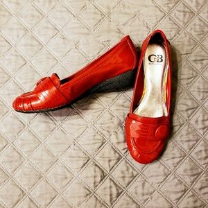 Giani Bini red vintage style loafers